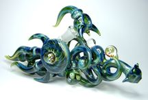Bubblers & Mini Tubes / Glass Bubblers & Mini Tubes made by Kravin Glass