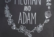 Wedding chalkart