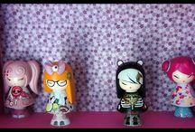 Kokeshi , Kimmidoll, Momiji / des petites poupées d'inspiration japonaise, kawaii!!