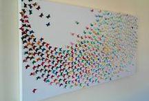 fluturi pe canvas