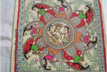 Madhubani Paintings / Madhubani, Bihar, India is famous for its beautiful depictions of Lord Krishna. Lot of other designs are also made. All completely using natural colors. The small villages of the district have done these paintings for centuries and most of them are trying hard to survive through the sales of these lovely creations of art.