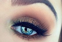 Make-up blue eyes