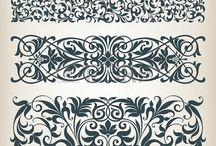Узорчатая филигрань / растительный орнамент