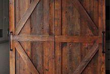 Drzwi przesuwne w stylu rustykalnym