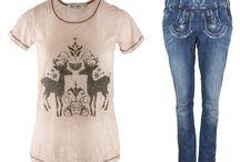 Alpiner Lifestyle / Alpiner Lifestyle - Tracht im Alltag Coole Jeans im Lederhosen - Look  Shirts und Jacken mit alpinen Prints und Strass! Wunderbar mit modernen Kleidungsstücken zu kombinieren und immer ein Hingucker!