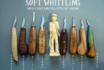 drevorezby / opracovanie dreva dlátom alebo nožom