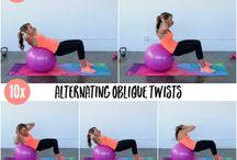 Cvičení a balonem