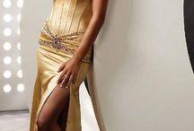 Společenské šaty - žlutá