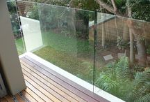 Frameless Balustrades / Frameless balustrades in 3 different forms - recessed, upright and side mounted.
