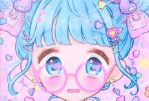 Drawings. Anime Kawaii art by Manamoko