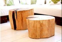 rönk asztal