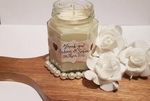 handmade soy candle favour