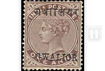 British India - Convention State  - Stamps of Gwalior / All stamps of Gwalior of British India - Convention State