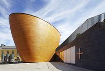 Kamppi Chapel of Silence / Trochu nezvyklý kostel Kamppi Chapel of Silence v Helsinkách vznikl za spolupráce architektonického studia K2S Architects s finskými staviteli lodí...