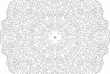 Mandalas kleurplaten / by Giny Bakker