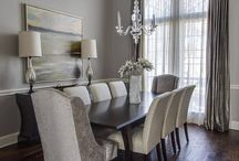 Gray dining room for mom
