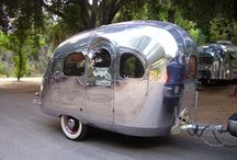 Tiny Vintage Travel Trailers / Traveling