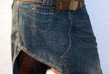 jean skirts