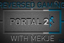 Portal 2 / Doing Portal 2 in reversed gaming (W,A and D key disabled) with Mekje!