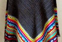 crochet scarf & shawl & poncho