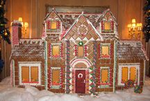 Gingerbread and Holiday Treats / Magical fantasy edible architecture