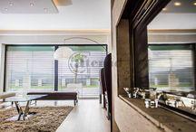 Living room & blinds / Árnyékoló megoldások a nappaliban beltérre és kültérre.
