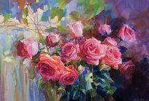 FLOWERS - OLEG  TIMOSHIN