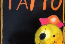 黒板ボード、アートボード体験作品 / チョークアート工房もりのこりすの教室体験した方の作品集です。