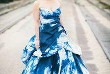 Bridal: Colour wedding dresses
