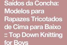 Blusa em tricô infantil masculina