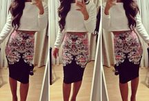 Whitney  / Floral Skirt