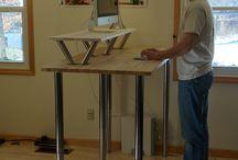 standing desk ideas / by Simply Darlene