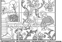 Képösszerakós kifestő/Picture mix-up coloring