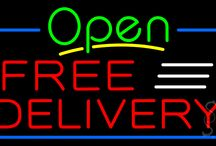 Free Delivery Open Neon Signs
