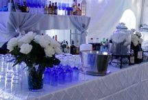 Winter wonderland themed wedding done by Parties N All LLC. 631-949-1800 serving all of New York. Planning, coordinating, staffing and decorating / Wedding planner & coordination.