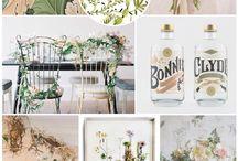 Botanical, Nature Inspired Wedding Theme / Inspiration for your botanical, nature inspired wedding including flowers, decor, stationery, cake and bridal styling