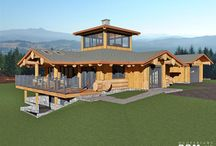 Log Nest Floor Plan / This creative log home design will be built at #Chilliwack lake BC. The LOG NEST was designed to capture a 360 degree view of surrounding mountains and lake.#loghomedesign #floorplans #dreamhouse