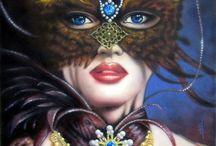 Innspirasjon til fargelegging av masker