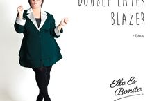 2015 - Double Layer Blazer / Blazer which specially designed for sophisticated curvy women originally made by Indonesian Designer & Local Brand: Ella Es Bonita.