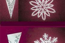 Talviaskartelua ja lumihiutaleet