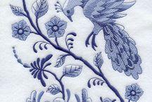 Bluwork embroidery
