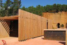 aménagement / persienne bois