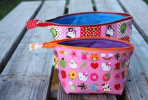 Sewing: Zippered pouches / Fine tuning my boards - pouches vs purses