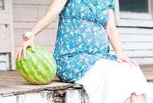 Shooting Grossesse - Eté / Des photographies de maternité faites pendant la saison Eté.