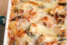 baby marrow pasta bake