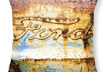 Tractors / Vintage and old tractor art work as prints, t-shirts, totes, pillows and more.