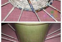pletení z trubiček papírových