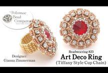 Art deco jewelry and art