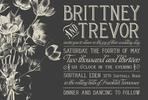 Invites/Save the Dates/Thank yous