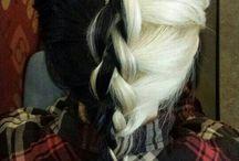 hair B&W